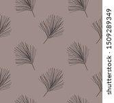 grey fir winter holidays.... | Shutterstock .eps vector #1509289349