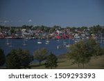 Lunenburg, Nova Scotia Harbor Seen from the Bluenose Golf Course 4794