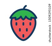 strawberry filled outline icon  ... | Shutterstock .eps vector #1509295109