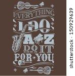 jazz artwork vector on wood... | Shutterstock .eps vector #150929639