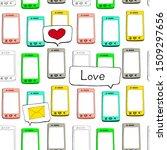 smartphone seamless pattern... | Shutterstock .eps vector #1509297656