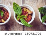 vegan homemade food  three... | Shutterstock . vector #150931703
