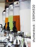 row of fresh juice at buffet... | Shutterstock . vector #150934520