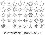 line star icons. outline stars...   Shutterstock . vector #1509365123