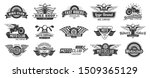 biker club emblems. retro... | Shutterstock . vector #1509365129