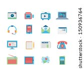 media icon set  | Shutterstock .eps vector #150936764