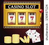 lucky seven casino slot machine | Shutterstock .eps vector #150937124