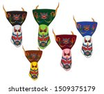 ghost mask vector. five masks... | Shutterstock .eps vector #1509375179