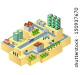 town in isometric view with the ... | Shutterstock . vector #150937670