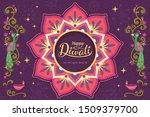 happy diwali festival with...   Shutterstock .eps vector #1509379700