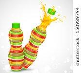 illustration of juice bottle... | Shutterstock .eps vector #150939794
