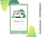 social media  flat design...