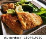 Fried Fish. Breaded Walleye...