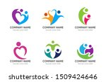 people logo collection health... | Shutterstock .eps vector #1509424646