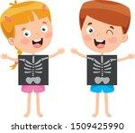 little kid showing x ray | Shutterstock .eps vector #1509425990