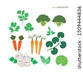 vegetables icon on white... | Shutterstock .eps vector #1509444836