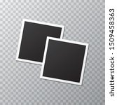 two blank realistic photo frame ... | Shutterstock .eps vector #1509458363