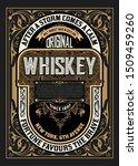 old  label design for whiskey... | Shutterstock .eps vector #1509459260