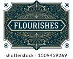 vintage flourishes ornament... | Shutterstock .eps vector #1509459269