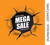 mega sale banner in the form of ...   Shutterstock .eps vector #1509472490