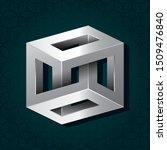 irrational cube silver metallic ... | Shutterstock .eps vector #1509476840