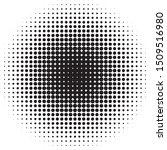 halftone black dots circle.... | Shutterstock .eps vector #1509516980
