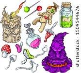 vector creepy sorcerer colorful ...   Shutterstock .eps vector #1509544676