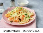 Close Up Of Shrimp Fettuccine...