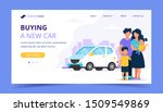 family buying a car. landing... | Shutterstock .eps vector #1509549869