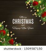 merry christmas and happy new...   Shutterstock .eps vector #1509587150