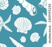 scallop shells  cone shells ...   Shutterstock .eps vector #1509595250