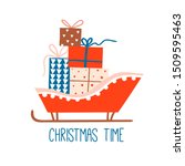 christmas time card or banner... | Shutterstock .eps vector #1509595463