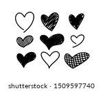 vector hand drawn childlike... | Shutterstock .eps vector #1509597740