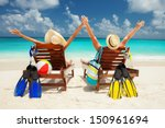 happy family vacation at... | Shutterstock . vector #150961694