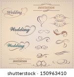 vector set  calligraphic design ... | Shutterstock .eps vector #150963410