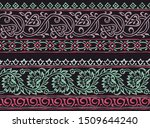 floral abstract border design... | Shutterstock . vector #1509644240