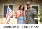 Us military man with family...