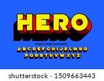 comic book superhero style font ... | Shutterstock .eps vector #1509663443