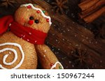 gingerbread man  ornament made... | Shutterstock . vector #150967244