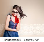retro fashion photo of young... | Shutterstock . vector #150969734