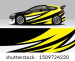 car wrap modern abstract vector ... | Shutterstock .eps vector #1509724220