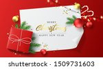 merry christmas and happy new... | Shutterstock .eps vector #1509731603