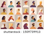 set of profile portraits or... | Shutterstock .eps vector #1509739913