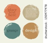 Beautiful color grunge design elements. Vector illustration | Shutterstock vector #150977978