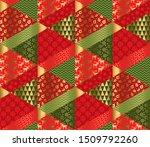 christmas elegant patchwork... | Shutterstock .eps vector #1509792260