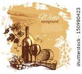 Wine Vintage Background. Hand...
