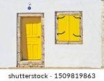 Picturesque Yellow Wooden Door...