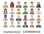 man and woman avatar pictures....   Shutterstock .eps vector #1509848546