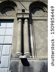 Small photo of The columns and arched vault, the old building of the ninetieth century.