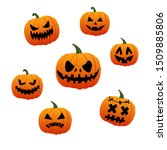 vector illustration. halloween... | Shutterstock .eps vector #1509885806